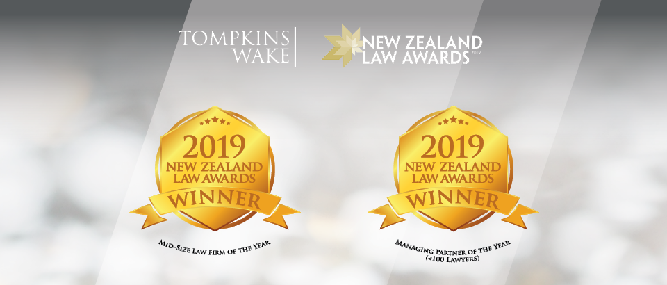 Tompkins Wake a winner at the 2019 NZ Law Awards