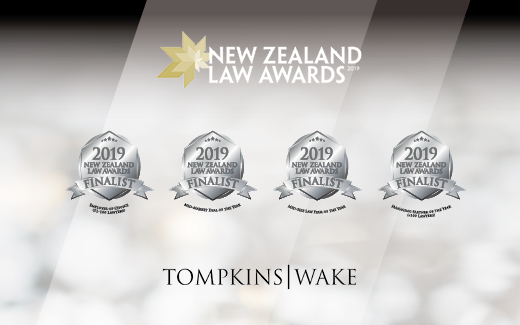 Tompkins Wake a quadruple finalist in the 2019 NZ Law Awards